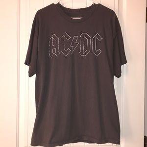 AC/DC BOYFRIEND TEE SHIRT BAND T XL ROUGH TARGET
